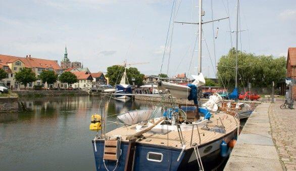 Segelschiff in Stralsund